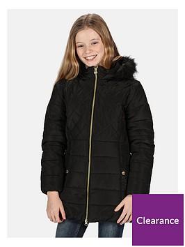 regatta-regatta-girls-bernadine-longline-insulated-quilted-hooded-jacket