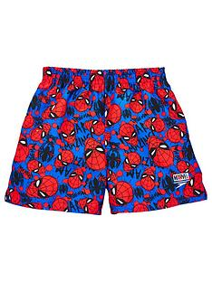 speedo-boys-spider-man-11-inch-watershort-blue-red