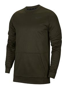 nike-training-therma-crew-neck-top-khaki