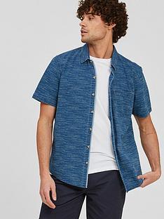 fatface-cherwell-dot-stripe-short-sleevenbspshirt-indigo