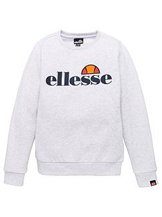 ellesse-older-boys-crew-neck-sweat-top-white