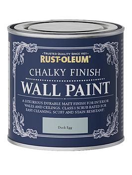 Product photograph showing Rust-oleum Chalky Finish 125 Ml Wall Paint Ndash Duck Egg