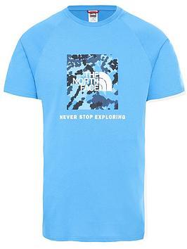 the-north-face-short-sleevenbspraglan-redbox-t-shirt-blue