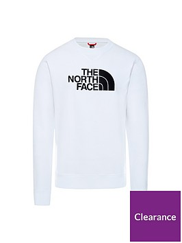 the-north-face-drew-peak-crew-whiteblack