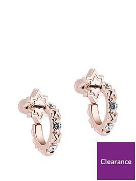 all-we-are-rose-gold-tone-bozena-mini-star-hoop-earring