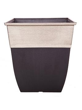 Very  Hendriks Tall Square 17 Inch Champagne Top Planter