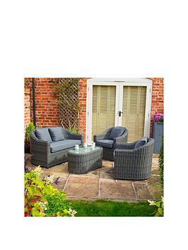 Rowlinson Rowlinson Bunbury Sofa Set Grey Weave Picture