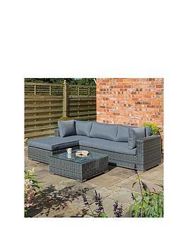 rowlinson-vienna-lounger-set-grey-weave
