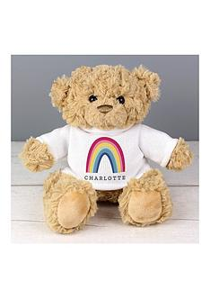 personalised-rainbow-t-shirt-teddy-bear