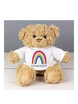 Very  Personalised Rainbow T Shirt Teddy Bear