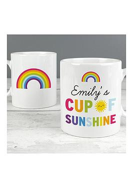 Very Personalised Cup Of Sunshine And Rainbows Mug Picture