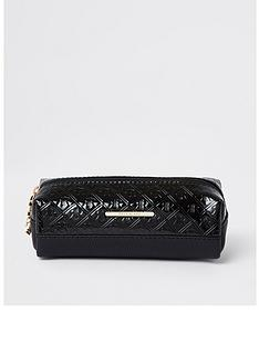 river-island-girls-patent-embossed-pencil-case--black