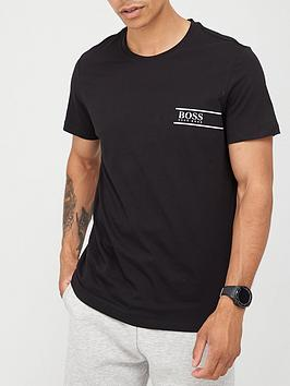 boss-beachwear-24-logo-t-shirt-black