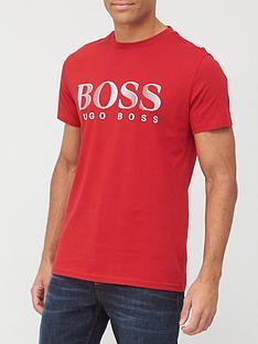 boss-beachwear-round-neck-logo-swim-t-shirt-red