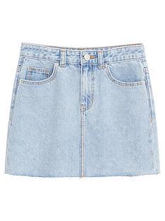 mango-girls-denim-skirt-light-blue