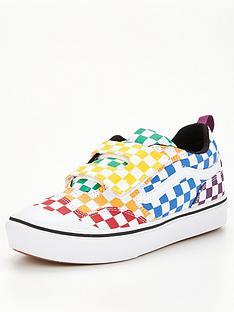 vans-new-skool-checkerboard-junior-trainer-multi