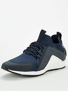 hugo-hybrid-knit-runner-trainers-whitenavy