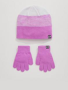 under-armour-girls-beanie-andnbspglove-set-lilac