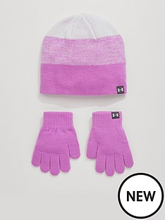 under-armour-girls-beanie-andnbspglove-set-lilac