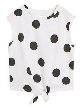 mango-girls-spot-tie-waist-tshirt-whiteblack