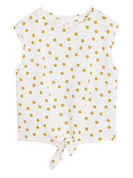 mango-girls-spot-tie-waist-tshirt-whitemustard