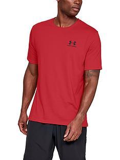 under-armour-sportstyle-left-chest-logo-t-shirt-rednbsp