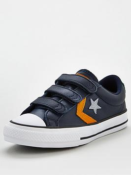 converse-star-player-ox-3v-leather-junior-trainer-grey-yellow