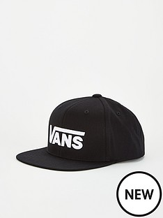 vans-childrens-drop-v-ii-boys-snapback-cap-black-white