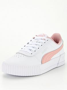 puma-carina-l-junior-trainers-whitepink