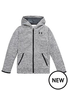 under-armour-armour-fleece-full-zip-hoodie-greyblack