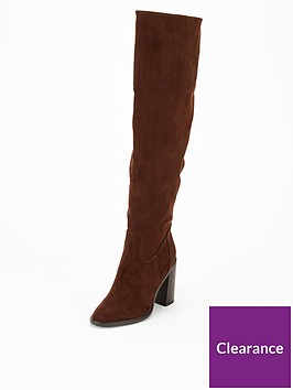 v-by-very-luna-block-heel-over-the-knee-boot-chocolate