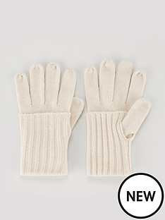 v-by-very-knitted-fold-over-cuff-glove-cream