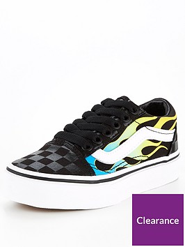 vans-childrens-old-skool-glow-flames-trainer-black