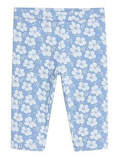 mango-girls-flower-print-cycling-shorts-light-blue