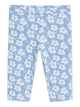 mango-girls-flower-print-cycling-shorts-light-blue
