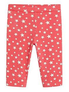 mango-girls-star-print-cycling-shorts-red