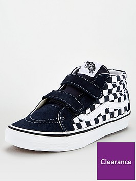 vans-sk8-mid-checkerboard-junior-trainer-bluewhite