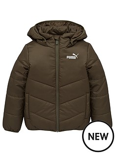 puma-essentials-padded-hooded-jacket-green