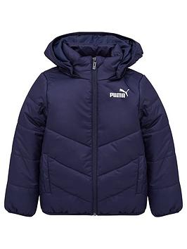 puma-essentials-padded-hooded-jacket-navy