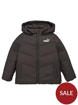 puma-essentials-childrens-padded-hooded-jacket-black