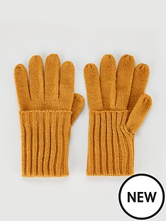 v-by-very-knitted-fold-over-cuff-gloves-mustard