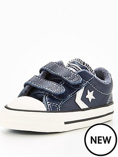converse-converse-star-player-ev-2v-ox-leather-heathered-knit-infant-trainer-navy
