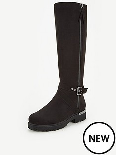 v-by-very-tula-side-zip-cleat-sole-knee-boot-black