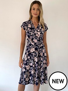wallis-petite-pretty-paisley-wrap-fit-and-flare-dress-multi