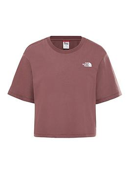 the-north-face-cropped-simple-dome-t-shirtnbsp--maroonnbsp