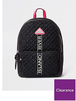 river-island-quilted-nylon-backpack-black
