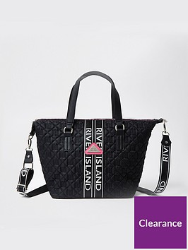 river-island-girls-quilted-carryall-bag-black