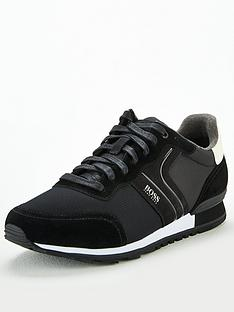boss-parkour-suede-runner-trainers-black
