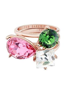 ted-baker-caisanbspcrystal-candy-stacking-ring--nbsprose-gold