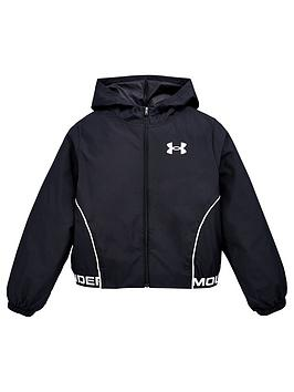 under-armour-girls-woven-play-up-hooded-jacket-black